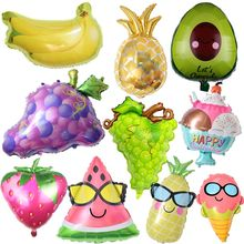 Birthday Balloons Flamingo/Pineapple/Avocado Cup Foil Balloon Birthday Decoration Kids Adult Party Beach Party Helium Air Globos(China)