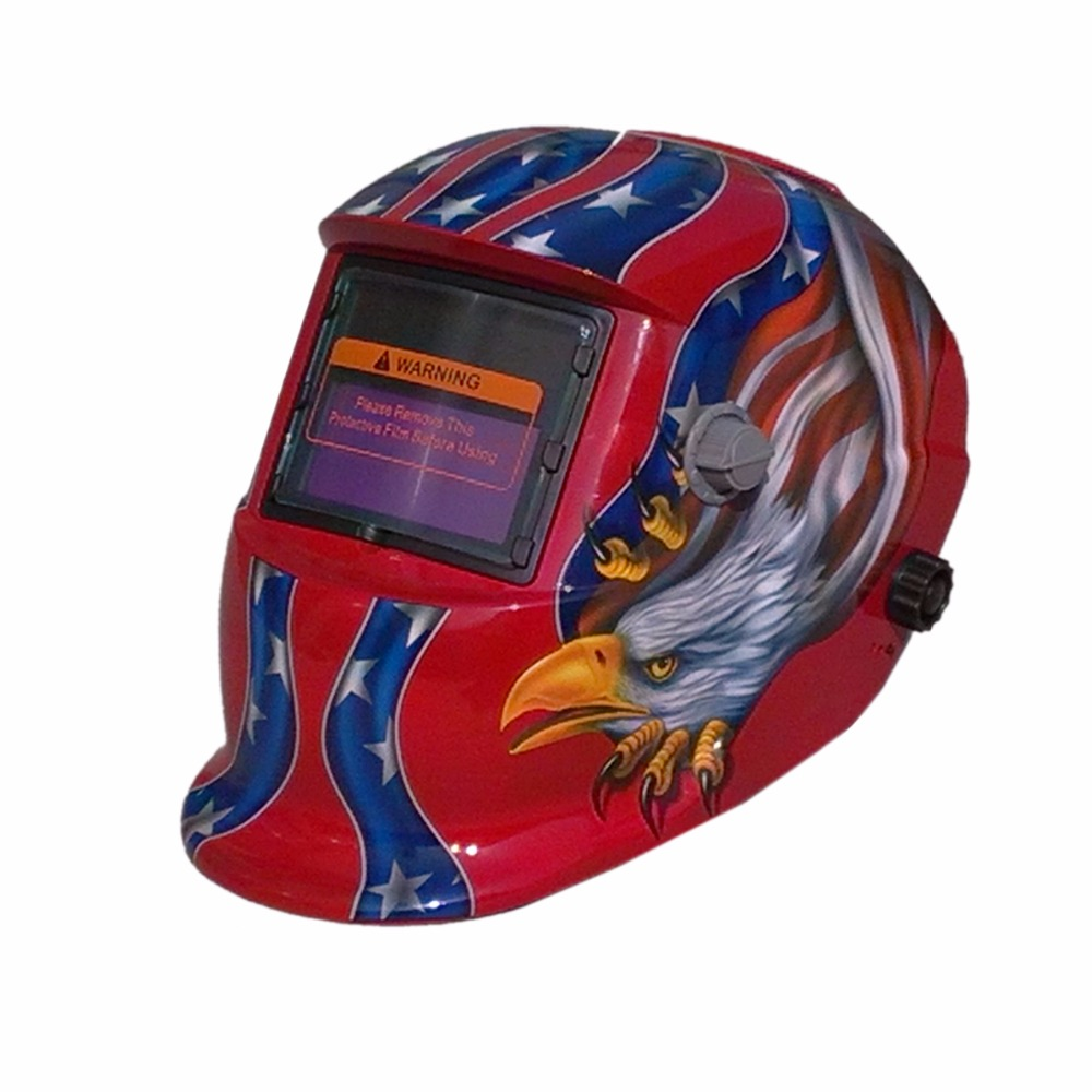 LI battery Solar Auto Darkening Electric Welding Mask/Helmet/Welder Cap for Welder Operate The Welding Machine or Plasma Cutter welding helmet welder cap for welding equipment chrome for free post