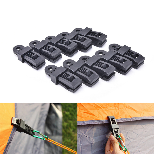 Hangers Survival Tent Emergency Grommet Awning Tarp Clamp Set Clips