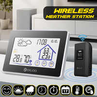 Digoo DG-TH8380 Touch Weather Station Indoor Outdoor Forecast Sensor Thermometer Clock Temperature Humidity Meter