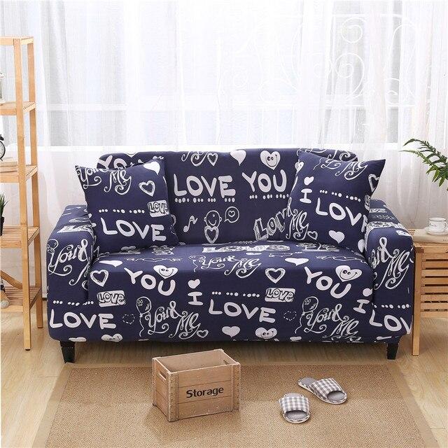 Romantische Universal Sofa Abdeckung Liebe Designerdruck Sofa Protector Für  Einzel Doppel Drei Viersitzer L Form Sofa