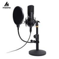 Micrófono USB para juegos de micrófono PC condensador Podcast Streaming de 192 KHZ/micrófono de Karaoke de 24 bits para grabación de videojuegos en YouTube