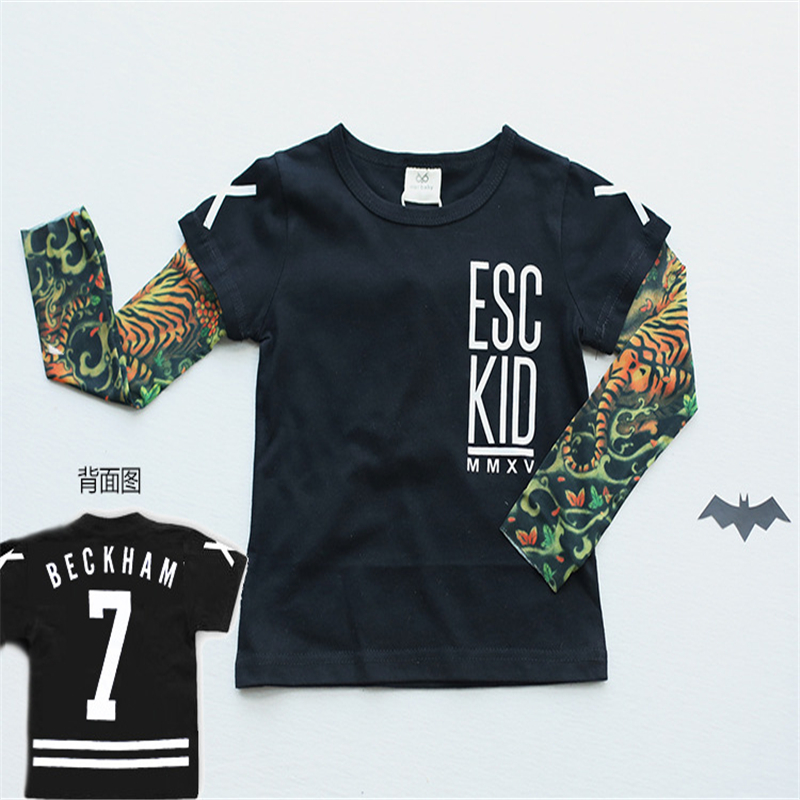 Boys T shirts Tattoo sleeve nununu fanshion Children ...
