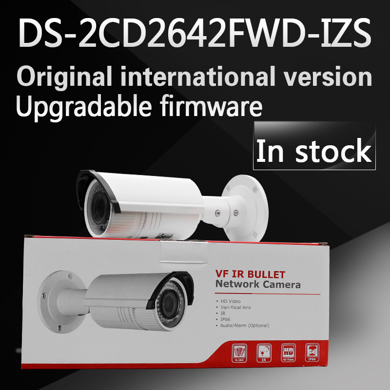 In stock free shipping english version Bullet Camera DS-2CD2642FWD-IZS, 4MP WDR Vari-focal Network IP Camera