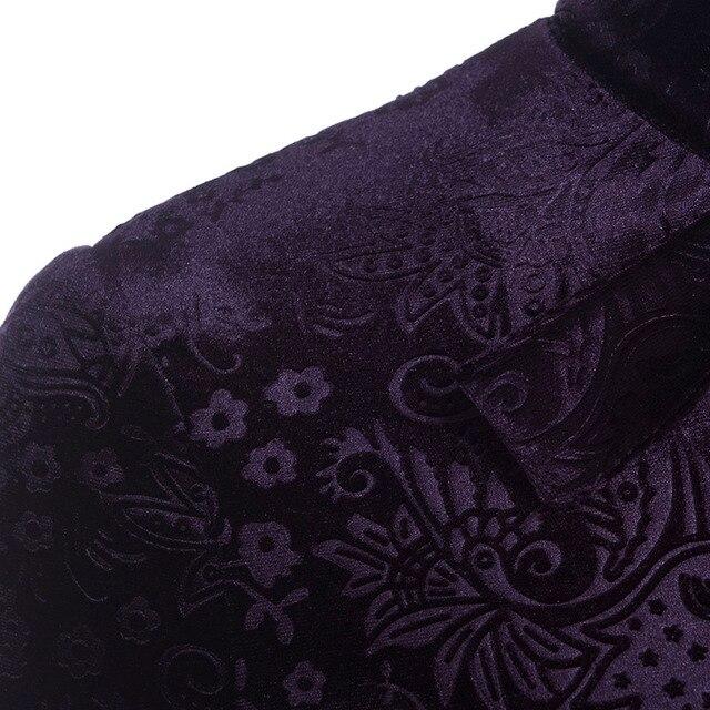 Women Gothic Dress Autumn Long Sleeve A-Line Hollow Robe Fashion Printed Velvet Vestidos Fabric Chic Party Elegant Dresses 5