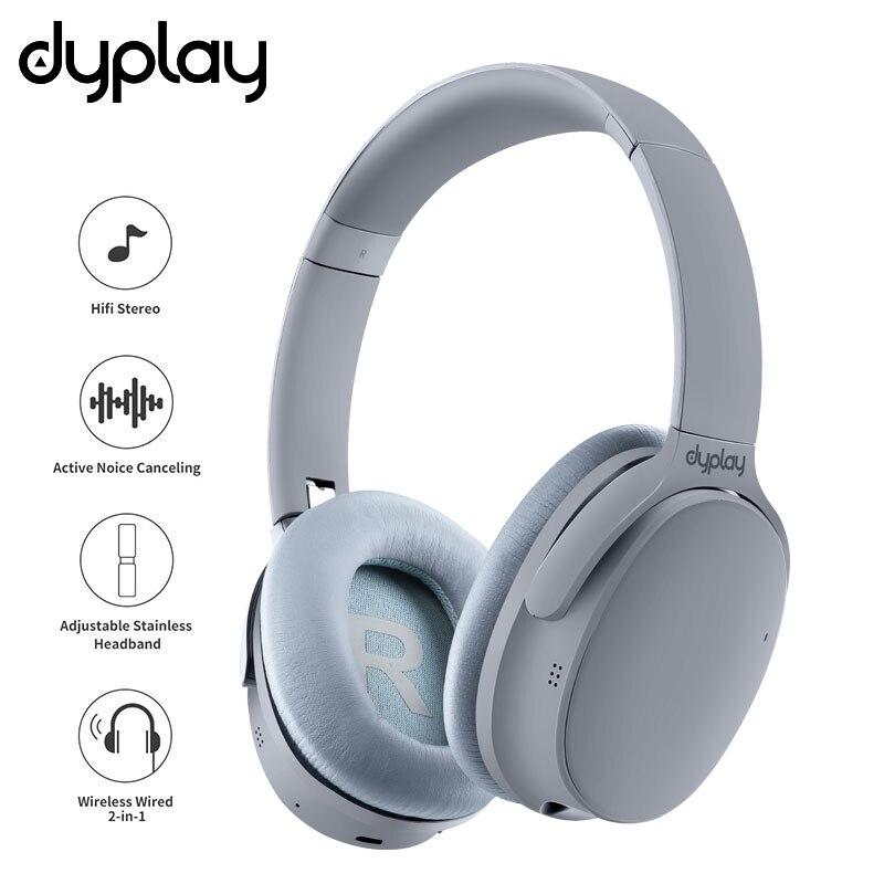 Cancelamento de Ruído ativo Fones De Ouvido Sem Fio Fones de Ouvido Bluetooth Com Caixa de Caso Sobre A Orelha Fone de Ouvido Com Microfone Para Telefones Celulares