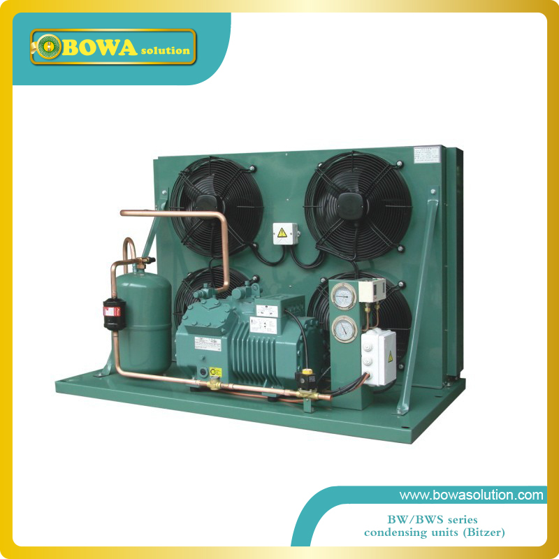 2019 New Style 20hp Middle Temperature Condensing Unit With Original Bitzer Compressor And 150sqm Condenser