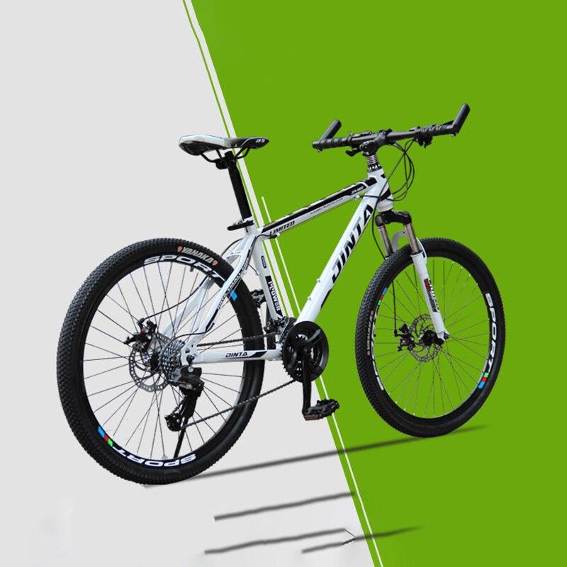 Mountain Bike High Carbon Steel 21-Speed 26-Inch Heel Straight Handlebar Double Disc Brake Bike