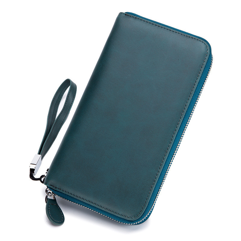 New Unisex Card Wallet Real Leather Women RFID Business Cards Wallet Female Bank Card Ho ...