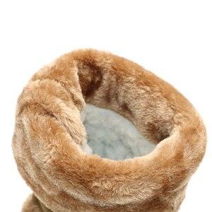 Image 4 - Taoffen novo inverno quente botas de joelho de pele grossa botas de salto alto sapatos femininos moda sexy botas de neve longa tamanho grande 35 43