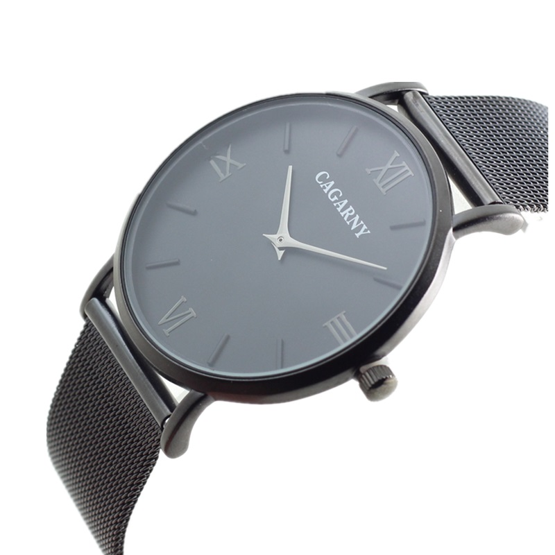 Super Slim Quartz Casual Wrist Watch Simple CAGARNY Brand Stainless Steel Quartz Watch Men s 2016