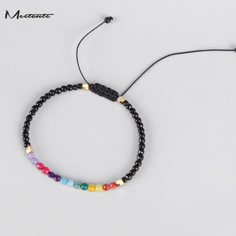 dcb0dc34de31bf Meetcute 12 Constellation Lucky Thin Bracelets Natural Stone Beaded 7  Chakra Bracelet Simple Strings Hollywood Beads Bohemia-in Strand Bracelets  from ...
