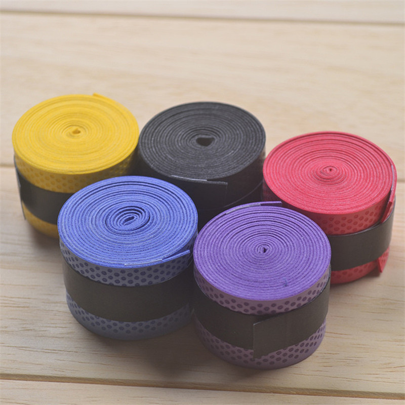 5PC/Pack Anti-slip Tennis Badminton Racket Overgrips Sweat Absorbed Sweatband Grips Tapes PU Dry Thin Fishing Rod Bands Wraps
