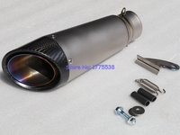 Titanium Alloy Customized ID 51mm 54mm 61mm 63mm 65mm Motorcycle Exhaust Muffler Pipe Carbon Fiber Motorbike