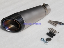 Titanium Alloy Customized ID:51mm/54mm/61mm/63mm/65mm Motorcycle Exhaust Muffler Carbon Fiber Motorbike Exhaust Escape DB Killer
