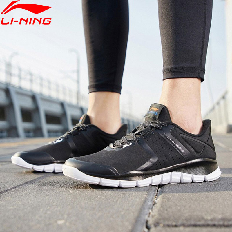 Li Ning Men 24H Training Shoes Light Weight Free Flexible Comfort LiNing Wearable Sport Shoes Fitness