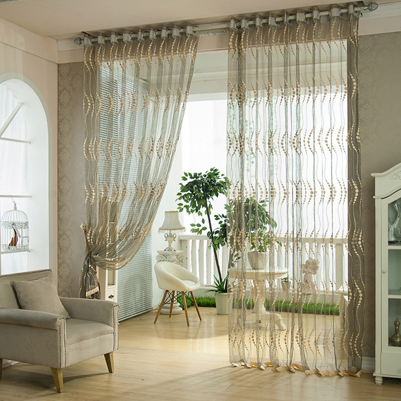 Modern Windows Natural Fresh Curtains for Living Sitting Room Kitchen Nylon Warp Sheer Curtains Elegant Style