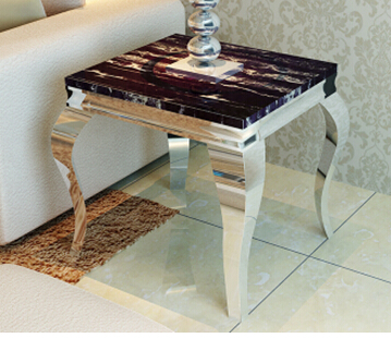 Stainless Steel Metal Assembled Marble Toughened Glass Small Tea Table.Coffee  Tables In Coffee Tables From Furniture On Aliexpress.com | Alibaba Group