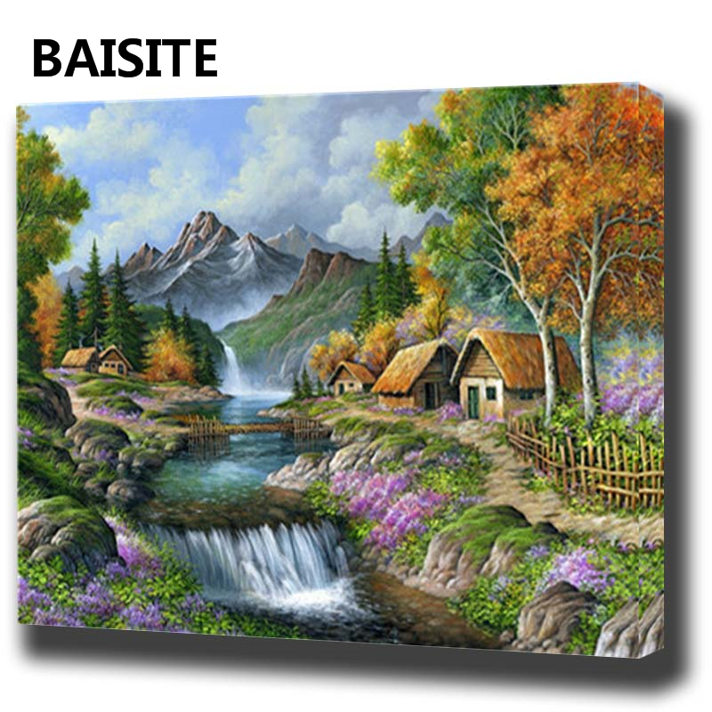 Aliexpress.com : Buy BAISITE DIY Framed Oil Painting By ...