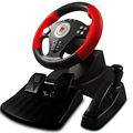 PC game hardware racing steering wheels & pedals with hand brake / gear suction / vibration