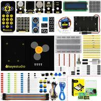 Keyestudio Maker Learning Kit/Starter Kit(NO UNOR3 Board) For Arduino Starter W/Gift BOX+UNO Platform +1602 LCD+Servo+LEDs+PDF