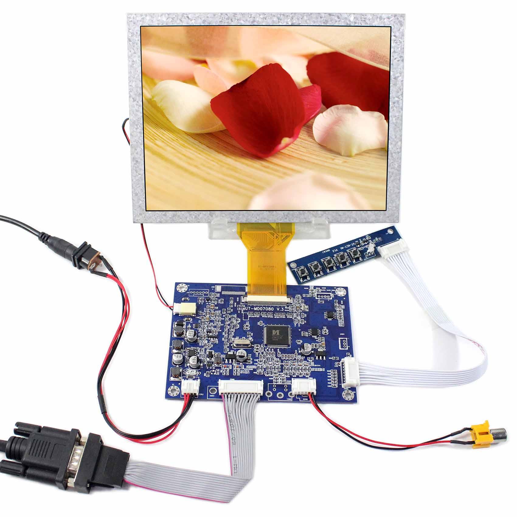 """8 colių 800x600 EJ080NA-05A skystųjų kristalų ekranas Su """"VGA AV LCD"""" valdiklio plokštė """"DIY"""" LCD monitorius"""