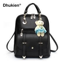 d44a528149 Fashion Mini Female Backpack Women School Backpack for Teenage Girls Small  Pu Leather Bookbag 2018 Bear Cute Mochila Masculina