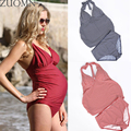 Maternidade swimwear das mulheres maiôs maiô swimwears push prenant duas peças grávida YL401