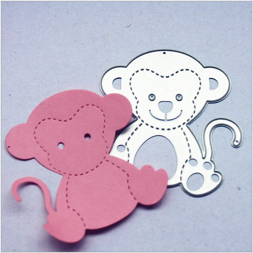 PANFELOU Metal Craft Cute Monkey Paper Die Cutting Dies