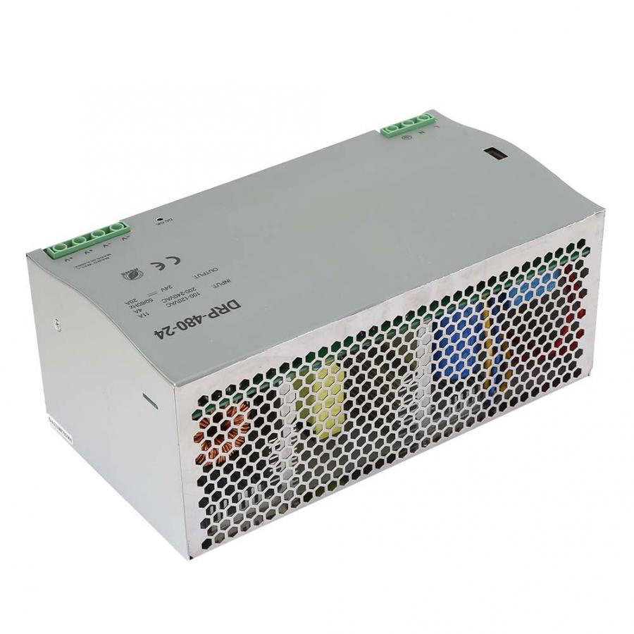 Module d'alimentation réglable alimentation à découpage DRP-480-24 480 W 24 V Din-Rail alimentation à découpage AC/DC