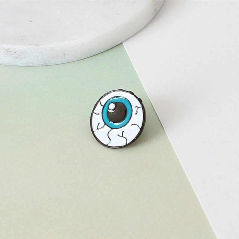 Desain Fashion Warna DROP Minyak Tubuh Manusia Organ Bros Klip Needle Eye Gigi Otak Jantung Pin Kerah Pin untuk Wanita perhiasan