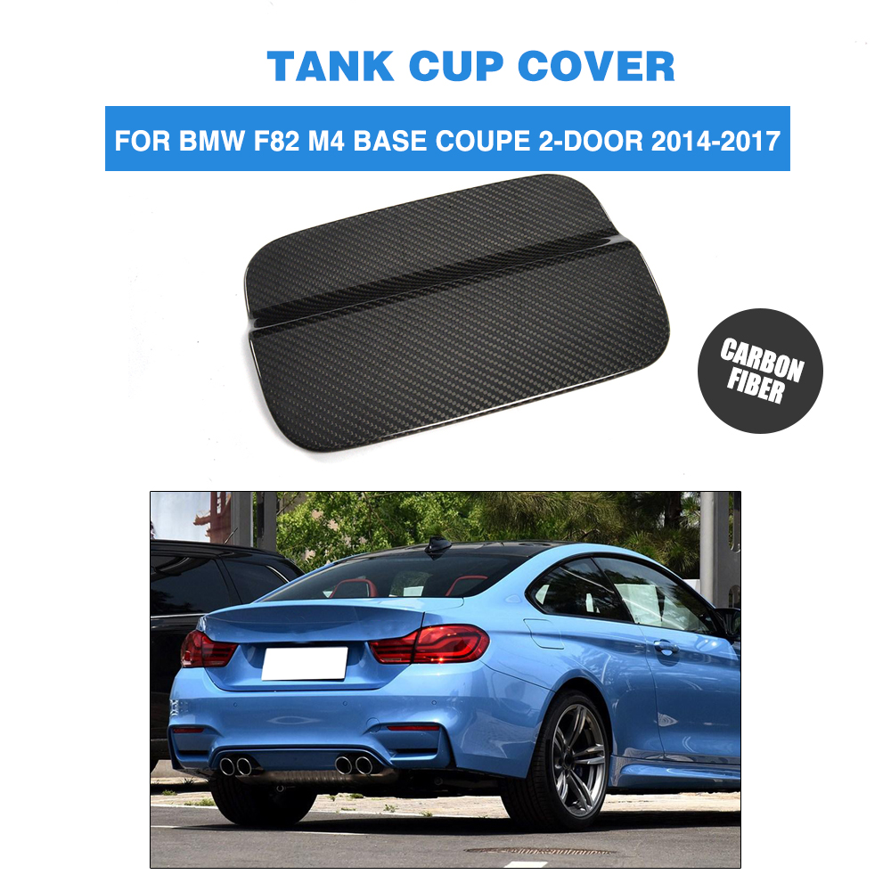 Carbon fiber Car Exterior Oil Gas Fuel Tank Cap Cover Trim Decoration for BMW F82 M4 Base Coupe Convertible 2-Door 2014-2017 carbon fiber car roof shark fin decoration antenna exterior trim for bmw e70 x5 e71 x6 2008 2014 car styling