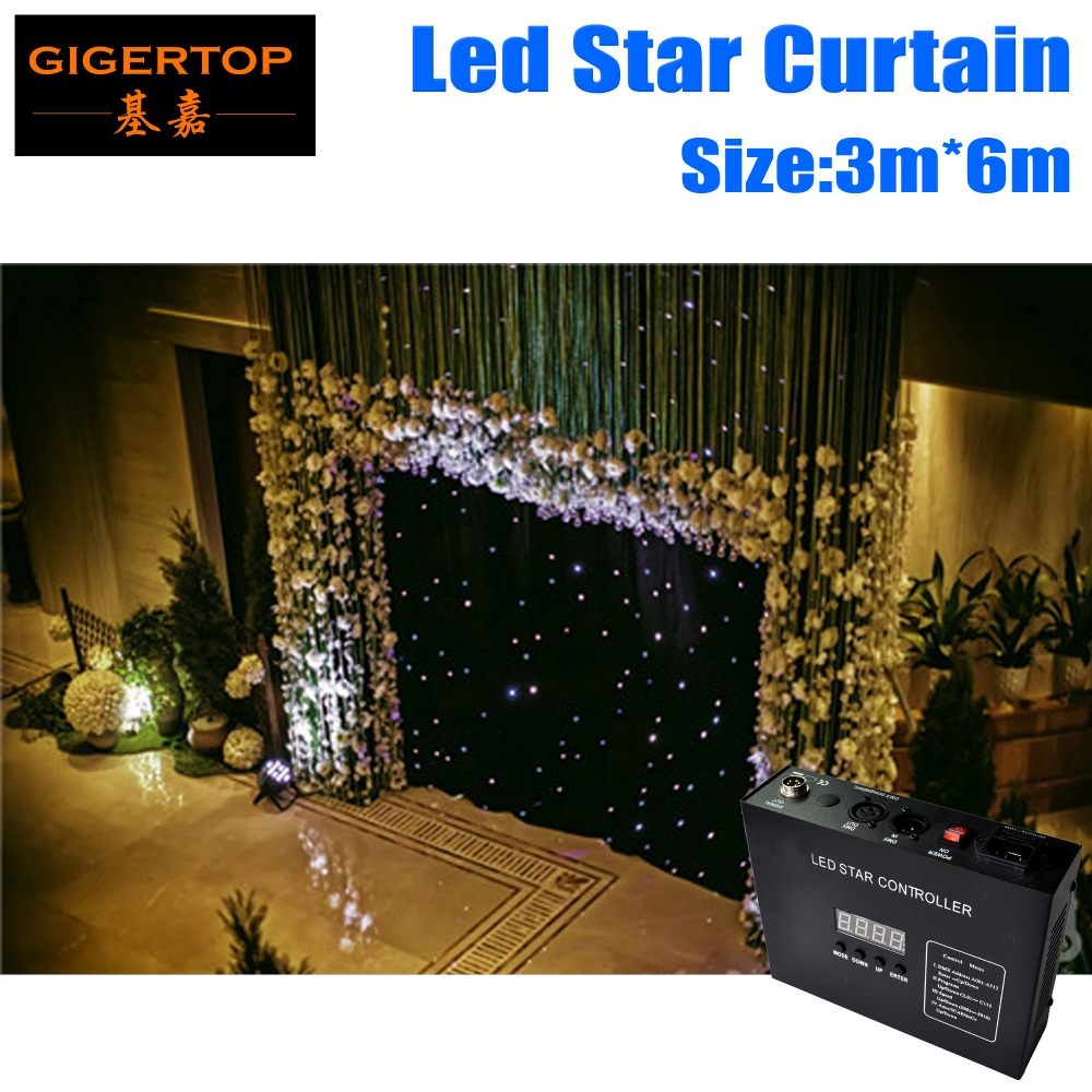 3M*6M&6M*3M LED Star Curtain With Controller,RGBW Color LED Stage Backdrop,LED Star Cloth For Wedding Decoration