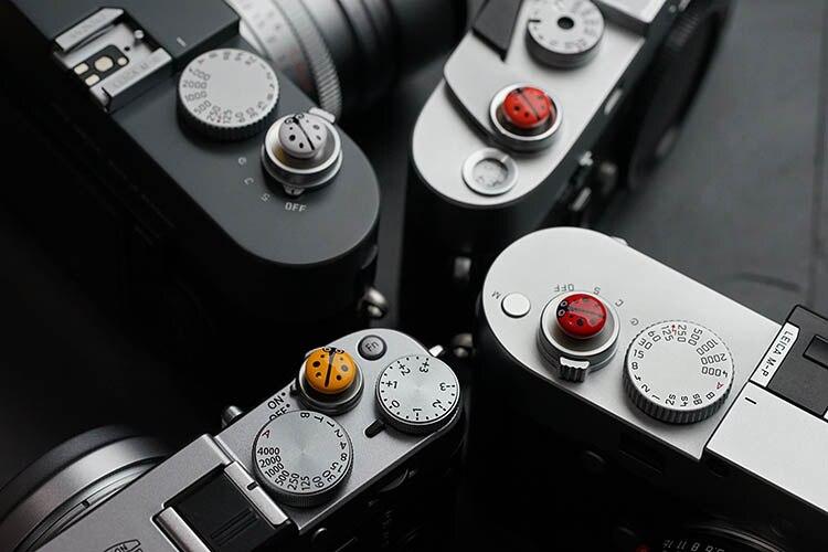 AYdgcam Belle Coccinelle Bouton Déclencheur pour Leica Fujifilm X100 x100s X100F X-Pro1 XT10 Xpro 2 caméra