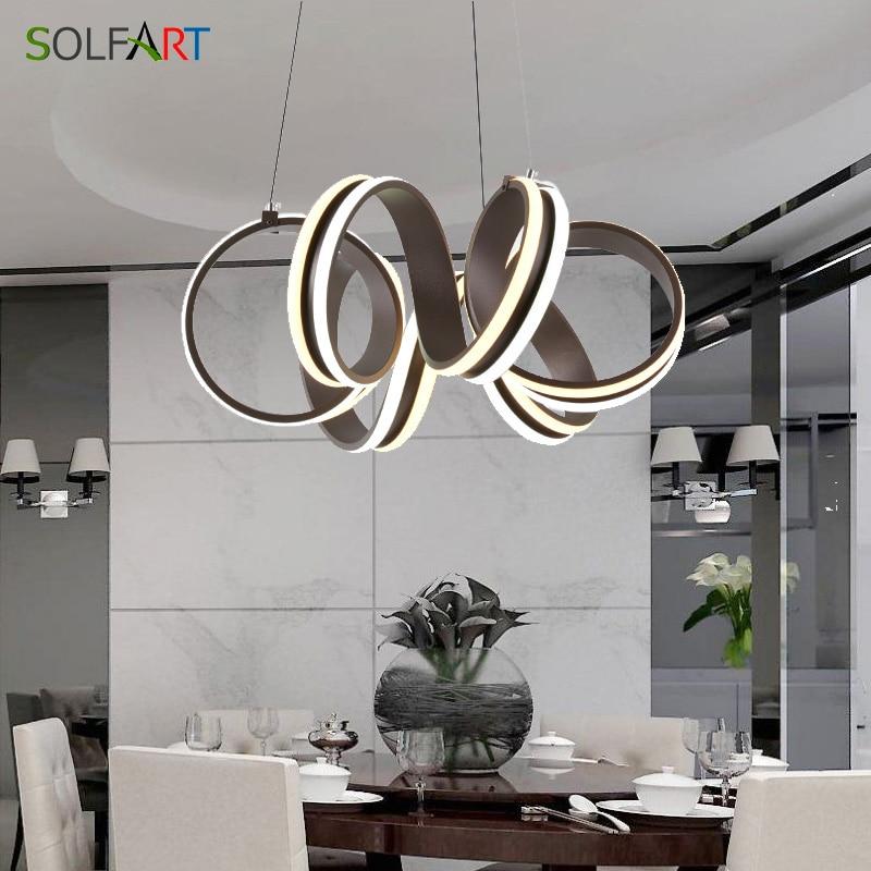 US $161.51 20% OFF|Led Pendant Lights Round Bar Lamp Modern Light Fixtures  For Dining Room Loft Decor Hanging Lamp-in Pendant Lights from Lights & ...