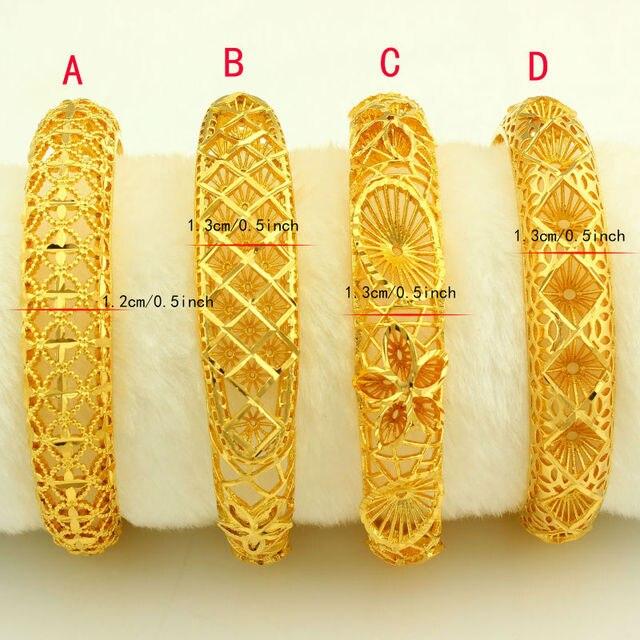 New Arrival Dubai Gold Bangles Women Men 24k Gold Plated Bangles&Bracelet African/Ethiopian/Arab ...