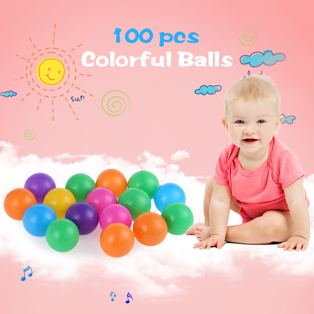 100 pcs Colorful Balls Soft Plastic 7cm and 8cm Ocean Balls Funny Baby Kid Swim Pit Toy Outdoor Indoor Baby Toy Balls Toys Gifts