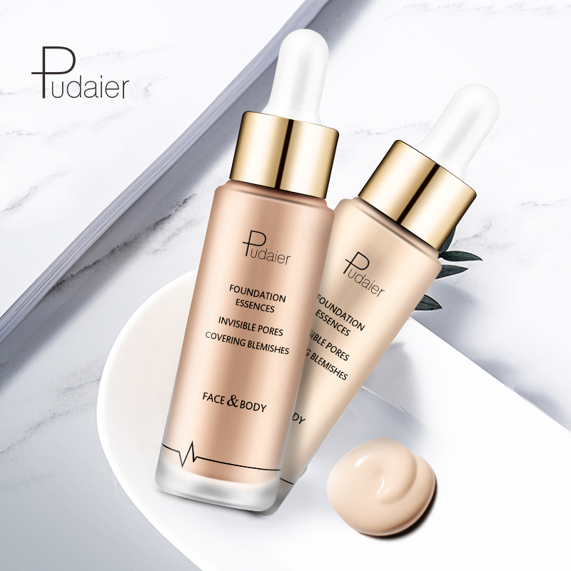 Pudaier Brand Base Foundation Face Makeup Liquid Finish Setting Nude Make Up Concealer Cream Waterproof Natural Cosmetic image