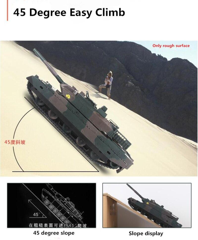 Nouvelle recharge électrique RC réservoir modèle enfants jouet XQTK24-2 40 minutes 45 degrés pente hors route à distance cont armée militaire réservoir jouet - 4
