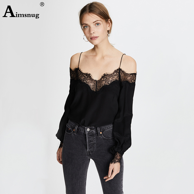 Aimsnug Lace Solid Patchwork V Neck Black Female Camis Top Without Bralette 2019 Summer Women Casual Vests Lady Tops