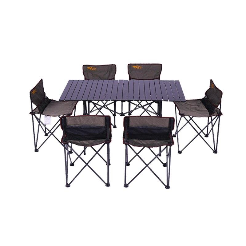 Походный реквизит алюминий сплав Открытый складной небольшой и портативный Пикник барбекю столы-стулья Кемпинг самостоятельно Drivin