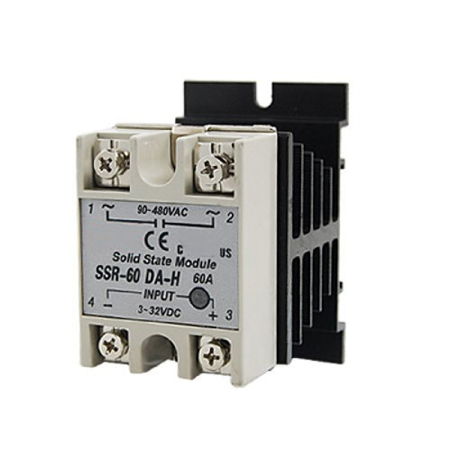 WSFS Hot Sale New Black DC to AC SSR-60DA-H AC 90--480V 60A Single Phase Solid State Relay wsfs hot sale dc to ac single phase solid state relay ssr 40da 40a 90 480v ac heat sink