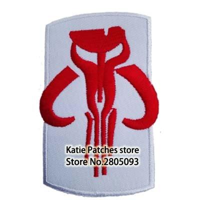 STAR WARS Boba Fett Mandalorian Emblem Embroidered Iron on Patch Movie Jacket Fabric Patch Kids DIY