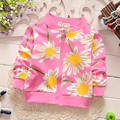 La niña de los niños abrigos de manga larga patrón de flores de algodón escudo Floral diseño moda hermosa chaqueta envío gratuito