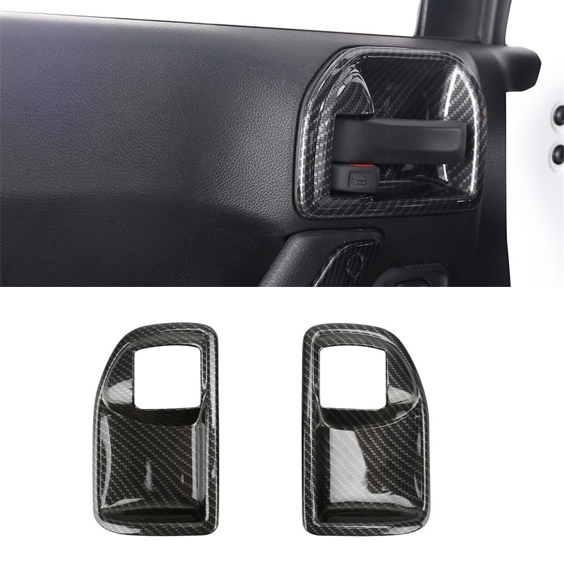 Interior Door Handle Bowl Cover Trim Chrome ABS Frame Car Styling For Jeep Wrangler Rubicon JK 2007-2017 2 Doors Car Accessories