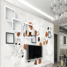 Factory direct modern minimalist leaves bird garden sofa TV background wall