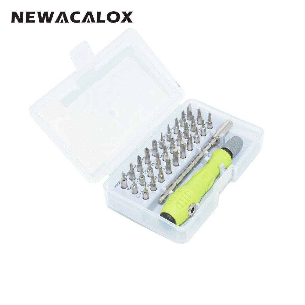 NEWACALOX 32 In 1 Präzision Bidirektionale Bedienung Magnetische Torx Flache Phillips Schraubendreher-set für Telefon Sonnenbrille Uhr