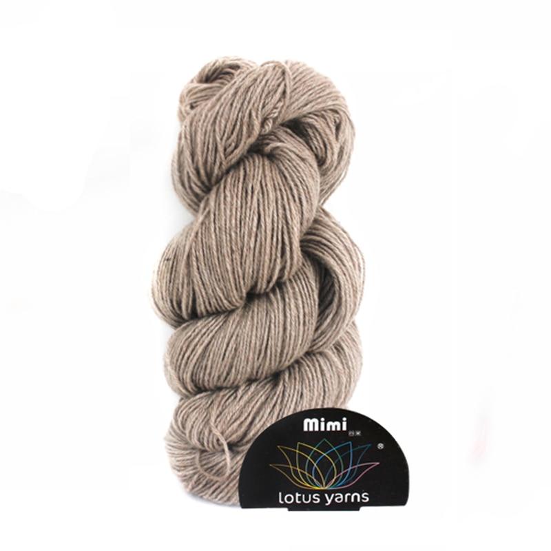 5 50g hank mimi plus mink cashmere yarn hand knitting yarn free shipping