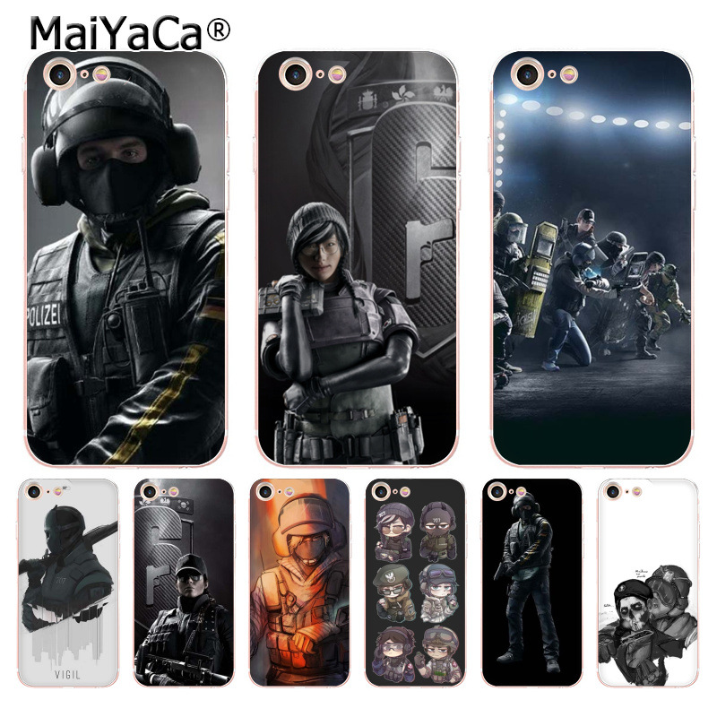 Creatief Maiyaca Voltron Regenboog Zes Siege Yugioh Transparante Soft Tpu Phone Case Cover Voor Apple Iphone 8 7 6 6 S Plus X 5 5 S Se 5c Cass