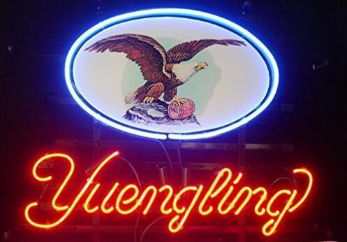 Yuengling Lager Eagle Glass Neon Light Sign